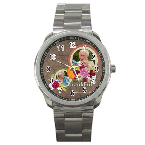 Thanksgiving By Joely   Sport Metal Watch   Elpk8sfh0g26   Www Artscow Com Front