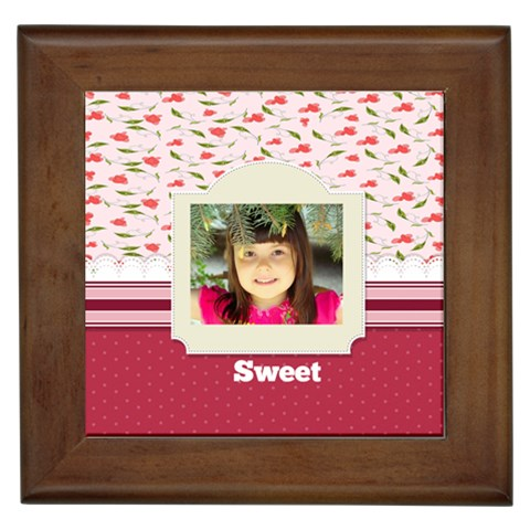 Sweet By Divad Brown   Framed Tile   Dsuwqvxwqo9a   Www Artscow Com Front
