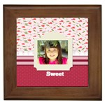 sweet - Framed Tile