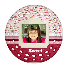 Sweet By Divad Brown   Round Filigree Ornament (two Sides)   Ynwtzkk54rdq   Www Artscow Com Front