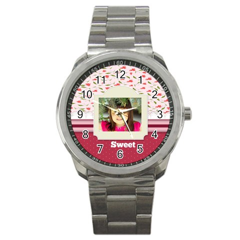 Sweet By Divad Brown   Sport Metal Watch   G1qwfvk7g9ay   Www Artscow Com Front