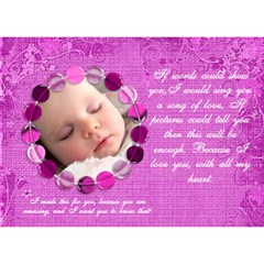 Pink Love Card By Claire Mcallen   Love 3d Greeting Card (7x5)   V7atpssvs0fy   Www Artscow Com Back