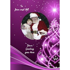 Christmas 3d Circle Card (7x5) By Deborah   Circle 3d Greeting Card (7x5)   6ei2zrgtxnf2   Www Artscow Com Inside
