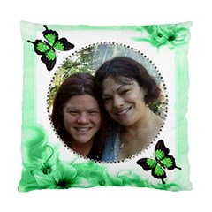 Green Floral Corner Pillow Tw2o Sides By Kim Blair   Standard Cushion Case (two Sides)   6ue7nhchscg8   Www Artscow Com Front