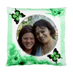 Green Floral Corner Pillow tw2o sides - Standard Cushion Case (Two Sides)