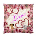 floral Love pillow - Cushion Case (Two Sides)