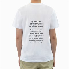 Christine Child By Shelley Williams   Men s T Shirt (white) (two Sided)   Qu6xbnur0x06   Www Artscow Com Back
