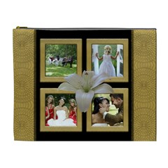 Our Wedding/anniversary Cosmetic Bag (xl) By Deborah   Cosmetic Bag (xl)   0nund1ktaits   Www Artscow Com Front