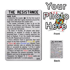 Resistance 2 0 By Scott Huntington   Multi Purpose Cards (rectangle)   1fjdd13o2u61   Www Artscow Com Back 54