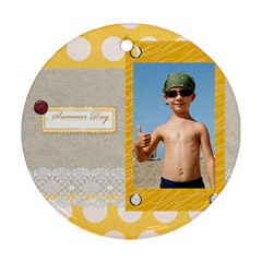Summer By Joely   Round Ornament (two Sides)   Y1via8utqeqh   Www Artscow Com Front