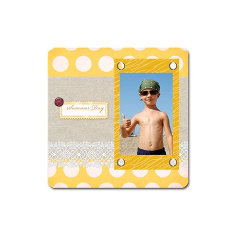 Summer By Joely   Magnet (square)   Aa84htxdvx8a   Www Artscow Com Front