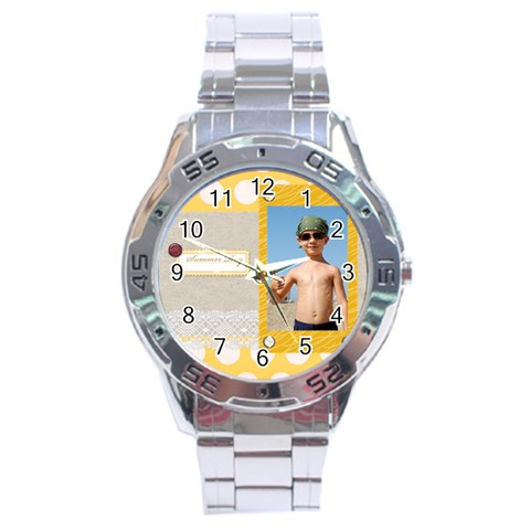Summer By Joely   Stainless Steel Analogue Watch   4vfga1ei6nsk   Www Artscow Com Front