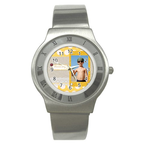Summer By Joely   Stainless Steel Watch   D4vilej8h4ri   Www Artscow Com Front