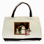 Rose and wood frame Classic Tote Bag two sides - Basic Tote Bag (Two Sides)