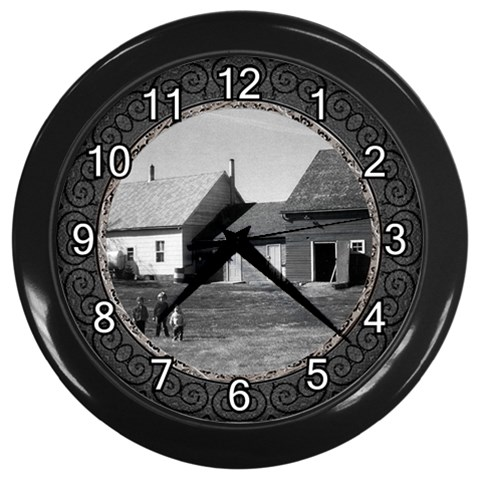 Lizmarie By Wendy   Wall Clock (black)   90292eme6j5y   Www Artscow Com Front