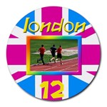 London 12 Mouse Pad - Round Mousepad