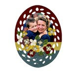 Flowers-Oval Filigree Ornament (2 sides) - Oval Filigree Ornament (Two Sides)