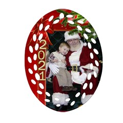 Christmas Memories Filigree Oval Ornament (2 Sided) By Deborah   Oval Filigree Ornament (two Sides)   Tu3p2cfv6eed   Www Artscow Com Front