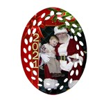 Christmas memories Filigree Oval Ornament (2 sided) - Oval Filigree Ornament (Two Sides)