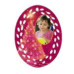 My Gold Christmas Tree filigree Ornament (2 sided) - Oval Filigree Ornament (Two Sides)