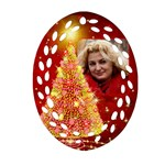 O Christmas Tree Filigree Ornament (2 sided) - Oval Filigree Ornament (Two Sides)