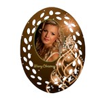 Christmas filigree Oval Ornament 6 (2 sided) - Oval Filigree Ornament (Two Sides)