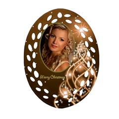Christmas Filigree Oval Ornament 6 (2 Sided) By Deborah   Oval Filigree Ornament (two Sides)   Kibqtru3kfcc   Www Artscow Com Back