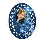 Christmas filigree Oval Ornament 3 (2 sided) - Oval Filigree Ornament (Two Sides)