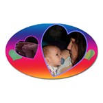 heart oval magnet - Magnet (Oval)