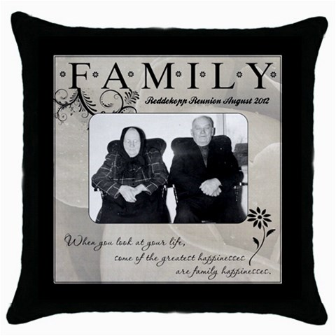 Redd By Wendy   Throw Pillow Case (black)   Wnhsro4j2fqv   Www Artscow Com Front