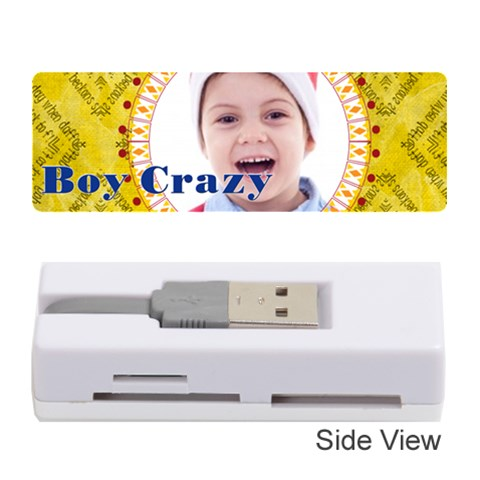 Boy Crazy By May   Memory Card Reader (stick)   2lai0q9hsnnr   Www Artscow Com Front