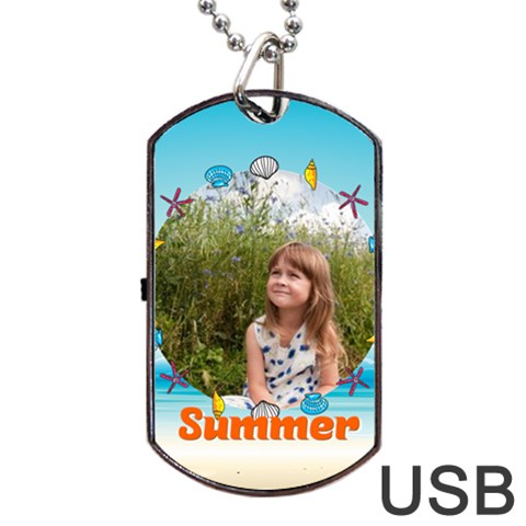 Summer By May   Dog Tag Usb Flash (one Side)   Hmfqrph4ksup   Www Artscow Com Front