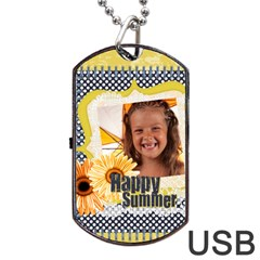 Summer By Joely   Dog Tag Usb Flash (two Sides)   Diz6anah41vi   Www Artscow Com Front
