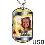 summer - Dog Tag USB Flash (Two Sides)