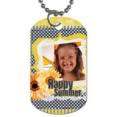 Summer By Joely   Dog Tag (two Sides)   2800zf6tvtd9   Www Artscow Com Back