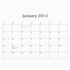 Calendar By Bryce Campbell   Wall Calendar 11  X 8 5  (12 Months)   1xp87vl3xdj5   Www Artscow Com Jan 2013