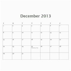 Calendar By Bryce Campbell   Wall Calendar 11  X 8 5  (12 Months)   1xp87vl3xdj5   Www Artscow Com Dec 2013