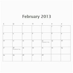 Calendar By Bryce Campbell   Wall Calendar 11  X 8 5  (12 Months)   1xp87vl3xdj5   Www Artscow Com Feb 2013