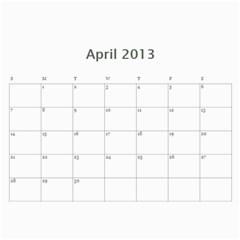Calendar By Bryce Campbell   Wall Calendar 11  X 8 5  (12 Months)   1xp87vl3xdj5   Www Artscow Com Apr 2013