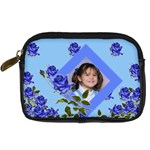 Blue Floral camera case 2 sides - Digital Camera Leather Case