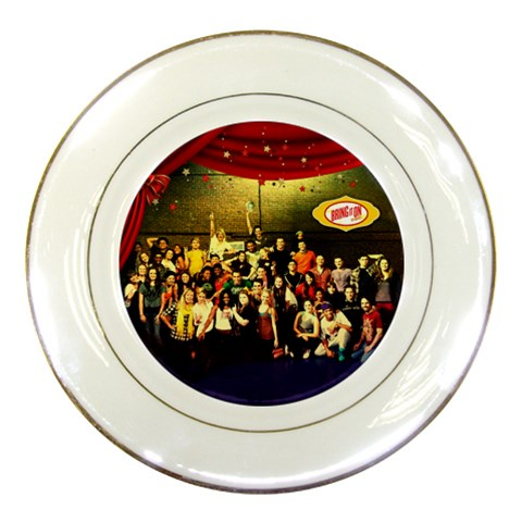 Plate C Opening Night By Pat Kirby   Porcelain Plate   Egpqs1k1juez   Www Artscow Com Front