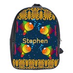 fish book bag - School Bag (Large)