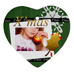 Xmas By Joely   Heart Ornament (two Sides)   8gyzpzrw29pj   Www Artscow Com Front