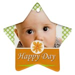 happy day - Star Ornament (Two Sides)