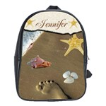 Footsteps book bag large - School Bag (Large)