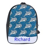 Dolphin bookbag - School Bag (Large)