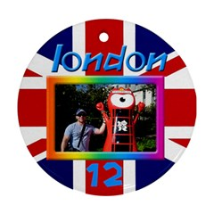 London 12 Round Ornament (2 Sided) By Deborah   Round Ornament (two Sides)   Afg3jrw3o4ir   Www Artscow Com Front
