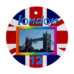 London 12 Round Ornament (2 Sided) By Deborah   Round Ornament (two Sides)   Afg3jrw3o4ir   Www Artscow Com Back