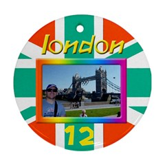 My London 2 Round Ornamant (2 Sided) By Deborah   Round Ornament (two Sides)   7rrayaxd8p12   Www Artscow Com Front
