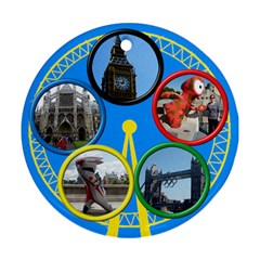 My London  Round Ornament (2 Sided) By Deborah   Round Ornament (two Sides)   Pwsm0rbe3u2m   Www Artscow Com Back